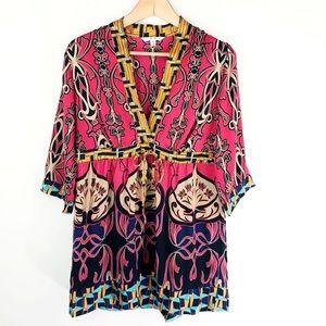 CAbi Silk Kimono Tunic/Dress Size S